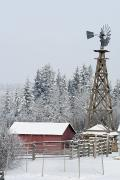 Snow-covered Landscape Art - Heritage Park Historical Village by Michael Interisano