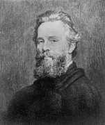 Author Metal Prints - Herman Melville 1819-91 American Poet Metal Print by Everett