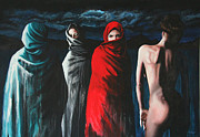 Nudes Paintings - Hermanas II by Ryan Swallow