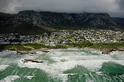 Strength Metal Prints - Hermanus village by stormy day Metal Print by Sami Sarkis