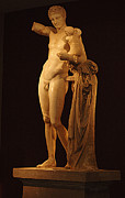 Greek Sculpture Art - Hermes And The Infant by Bob Christopher