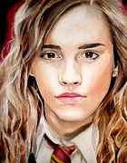 Hermione Paintings - Hermione Granger by Nicholette  Haigler