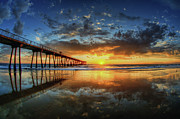 Reflection Metal Prints - Hermosa Beach Metal Print by Neil Kremer