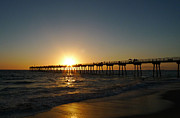 Nina Prommer Prints - Hermosa Beach Sunset Print by Nina Prommer