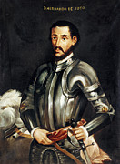 18th Century Paintings - Hernando De Soto by Granger