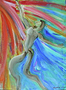 Abstract Dance Painting Originals - Hero by Derick Van Ness