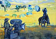 Yello Paintings - Hero on a Horse by Amy Bernays