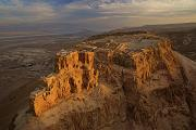 Middle East Photos - Herods Three-tiered Palace Cascades by Michael Melford