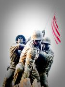 American Flag Photo Prints - Heroes Print by Julie Niemela