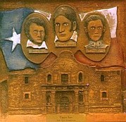 Artwork Reliefs - Heroes Of the Alamo by Michael Pasko