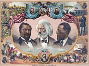 Slavery Framed Prints - Heroes Of The Colored Race Blanche Framed Print by Everett