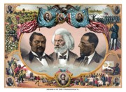 Abraham Lincoln Prints - Heroes Of The Colored Race  Print by War Is Hell Store