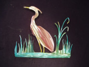 Outdoors Sculptures - Heron and Reeds by Glen Cowan