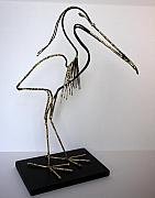Animal Sculpture Originals - Heron by Buzz Leighton