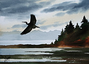 Heron Art - Heron Silhouette by James Williamson