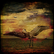 Storm Digital Art Metal Prints - Herons Metal Print by Chris Lord