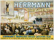 Tricks Painting Posters - Herrmann the Great Poster by Unknown