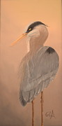 Herron Paintings - Herron by Gila Churba