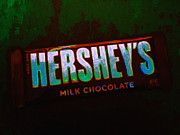 Candy Digital Art Prints - Hersheys Chocolate Bar Print by Wingsdomain Art and Photography