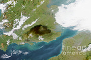Polluting Prints - Hertfordshire Oil Fire Smoke, Uk, 2005 Print by NASA / Science Source