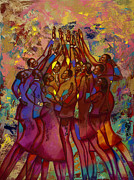 African American Family Prints - Hes Worthy To Be Praised  Print by Larry Poncho Brown