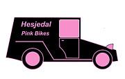 Hesjedal Pink Bikes - Virtual Car Print by Asbjorn Lonvig