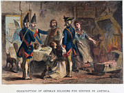 1770s Posters - Hessians: Conscription Poster by Granger