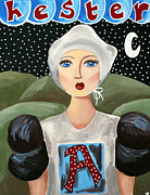 Night Angel Paintings - Hester Prynne by Kathy Van Osdale