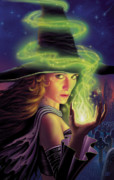 Witch Metal Prints - Hex of the Wicked Witch Metal Print by Philip Straub