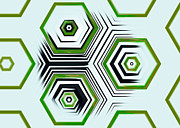 Hexagons Acrylic Prints - Hexagonal Acrylic Print by Hakon Soreide