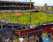 Chicago Cubs Stadium Paintings - Hey Hey 353 by Phil Strang