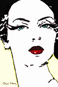 Nagel Prints - Hi Res Lady Print by Chuck Staley