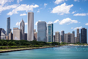 Chicago Prints - Hi-Res Picture of Chicago Skyline and Lake Michigan Print by Paul Velgos