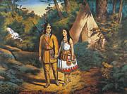 Hiawathas Wedding Print by Granger