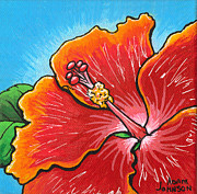 Hybrid Paintings - Hibiscus 06 by Adam Johnson