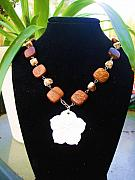 Wood Jewelry - Hibiscus Aloha by Coty Noojin