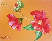 Bloom Painting Originals - Hibiscus in Full Bloom by Marsha Heiken