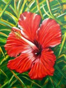 Hibiscus Metal Prints - Hibiscus Metal Print by JoAnn Wheeler