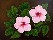 Hawai Painting Prints - Hibiscus Print by Lorraine Marsh