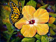 Eileen  Fong - Hibiscus with Monarch