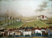 19th Century America Prints - Hicks: Cornell Farm, 1848 Print by Granger