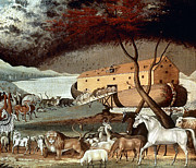 Noah Framed Prints - Hicks: Noahs Ark, 1846 Framed Print by Granger