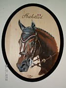 Horse Portrait Pyrography - HICKSTEAD Tribute to a fallen warrior by John Tatham