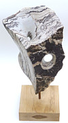 Black And White Sculpture Originals - Hidden Darkness Hidden Light by Gary Frederick Brown