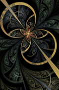 Fractal Flame Posters - Hidden Depths Poster by John Edwards