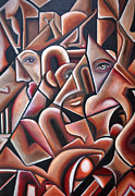 Angela Waye Art - Hidden Faces by Angela Waye