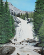 Hidden Falls Originals - Hidden Falls Grand Teton National Park by Gail Darnell