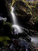 Cavern Metal Prints - Hidden Falls Metal Print by Mike  Dawson