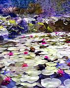 Water Lily Digital Art - Hidden Pond Lotusland by Kurt Van Wagner