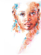 African Child Prints - Hidden Tears Print by Stephie Butler